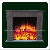 Decorative Hand Carved Stone Corner Fireplaces