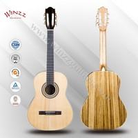 """[Winzz] 39"""" Spruce Plywood Zebra Rosewood Classic Guitar (AC58)"""