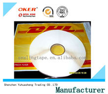 high quality strong adhesive DHL courier bags/mail bags permanent sealing tape
