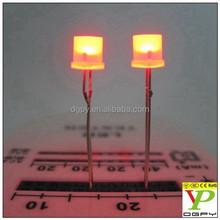 1.8V-2.2V water clear flat top Light Emitting Diode red 5mm led diode