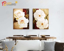 Chinese Custom Canvas Flower Group Beautiful oil paintings