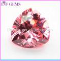 de color rosa billones de corte gemas artificiales para la joyería