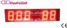 Hot selling large led clock and thermometer with high quality