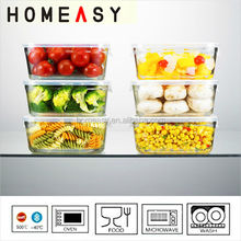 Hot sale wholesale keep food hot eco-friendly feature pyrex glass food storage container