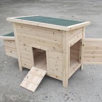 outdoor wooden chicken coop hen house