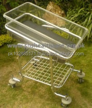 Hospital Type Baby Cot, Stainless Steel with plastic crib
