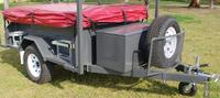 2015 new model professional flat pack motorcycle camping trailers