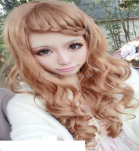 New Fashion Womens Girls Long Curly Wavy Full Wigs Hair Cosplay Costume Party hair wig QPWG-2215