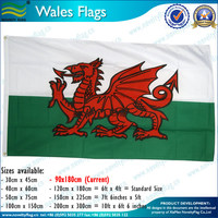 Welsh dragon flags 75D/100D woven polyester cheap price