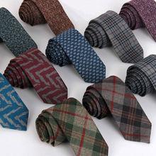 6cm Fashion Mens' Necktie Wool Ties