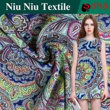 Mais recente moda fibra de Viscose de bambu têxtil Design de impressão étnica tecido