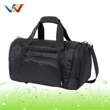 waterproof nylon travel duffle bag with shoe compartment