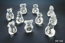 Cheap Hot Selling Animal Crystal/Glass Clock Craft for wedding favor