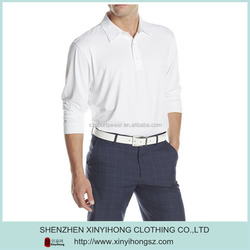 wholesale golf shirts with 100% cotton fabric/long sleeve polo shirts for men