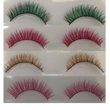 cheap sale colorful false eyelashes,own brand eyelashes,eyelash