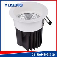 Xinchai 100-240V RA85 PC+Alu 12W LED COB down light downlight pendant w honey and brown scallop glass shade