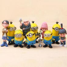 10pcs New Movie Despicable Me 2 Action Figure Play Set, High Quality Custom Cute Minion Figures Supplier,Action Figure