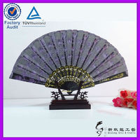 Black Plastic Lace Wedding Hand Fan for gift