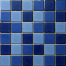 Bule color ceramic mosaic tile,swimming pool mosaic