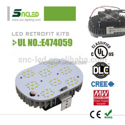 Chiese Professional LED Producer Factory Sales Directly 120W LED Gas station / canopy light Retrofit kits IP65 Lighting Fixture