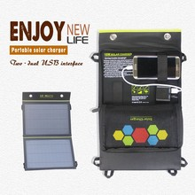 Recharger Friendly Foldable Mobile Solar Charger With 15 Solar Panel