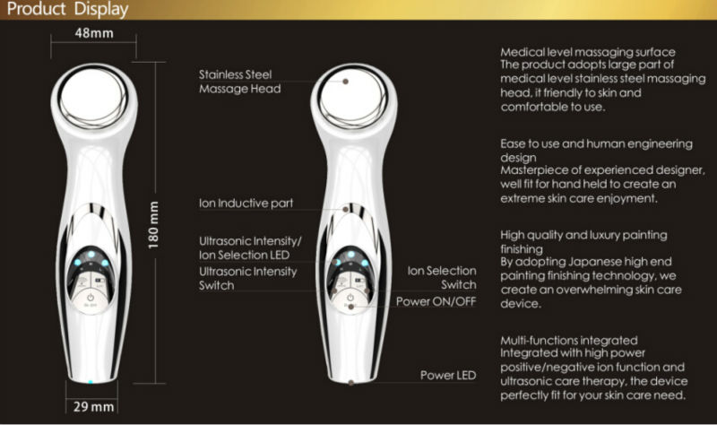 mini portable ion beauty personal massager