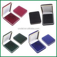 stock red,blue,black,green flocking velvet badge,medal,coin box wholesale