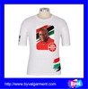 wholesale white plain t shirt custom 100% cotton short sleeve t shirt printed OEM service election campaign t shirts