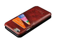 Card slots leather back phone case , for iphone 6 hard pu leather cover