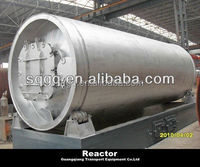 2015 20-ton continuous waste plastic used tire processing to oil recycling plant system