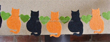 Hot sell Cat Garland, Halloween Cat Bunting Felt Garland made in China