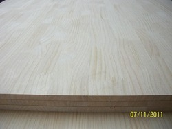 1220*2440mm rubber wood finger joint lamination board in good quality for indoor use
