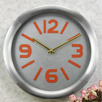 wholesale gold plating customized antique wall clock