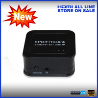 3X1 Spdif Toslink Switcher 3 in 1 out with IR remote control