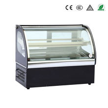2 Floor counter top cake display fridge with CE made in china