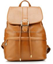 Genuine Leather Brown Women Shoulder Messenger Bag Handbag Backpack Travel
