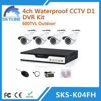 CCTV products 4CH D1 DVR Kit
