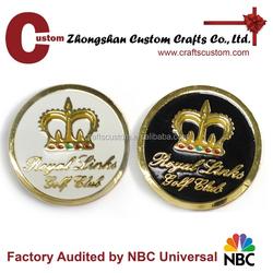 Custom hard enamel gold plated golf club sports challenge coin