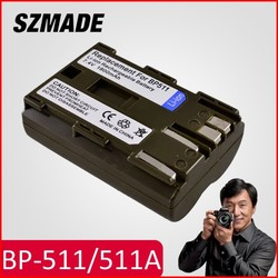Rechargeable li-ion digital camera battery for CANON BP-511/511A