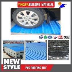 new product pvc roof tile greenhouse or indoor roofing material