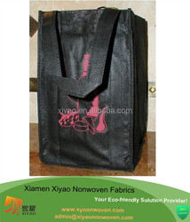 2015 New Wine Tote Insulated Bag Non-Woven Recycled Material beer bottle bag