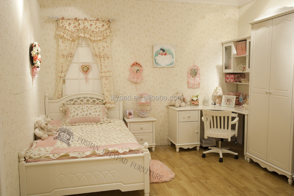 Luxury French Style Royal Princess Kids Bedroom Furniture