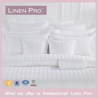 Linen Pro Latest Design 100% Cotton 3cm Satin Stripe King /Queen Hotel Bedding Set