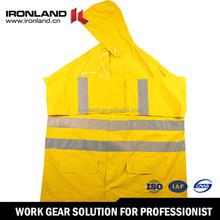 Custom Color elastic draw cord hem waterproof breathable rain suit