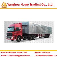 utility box semi trailer/strong steel van semi trailer on sale