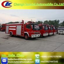 DFAC 4000-5000 liters water tank fire fighting truck, all fire truck specifications