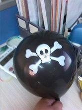 black halloween danger balloon decorations