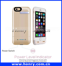 External Backup for iphone 6 rechargeable mobile phone battery case 3600mah
