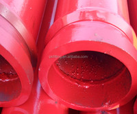China manufacturing DN125*3M twin layer concrete welding pipe