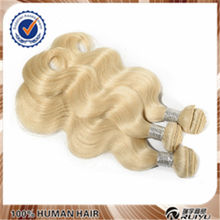 High quality full cuticle direct factory price Indian blonde remy wavy hair